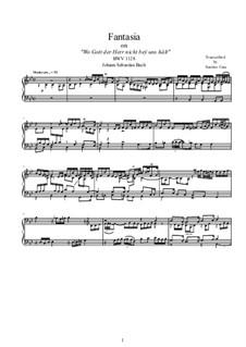 Fantasia for piano on 'Wo Gott der Herr nicht beÿ uns hält', BWV 1128: Fantasia for piano on 'Wo Gott der Herr nicht beÿ uns hält' by Johann Sebastian Bach