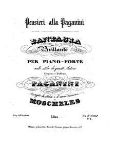 Fantaisie à la Paganini: Para Piano by Ignaz Moscheles