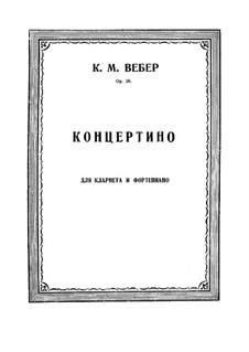 Concertino for Clarinet and Orchestra, J.109 Op.26: versão para clarinete e piano by Carl Maria von Weber