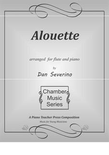 Alouette: para flauta e piano by folklore
