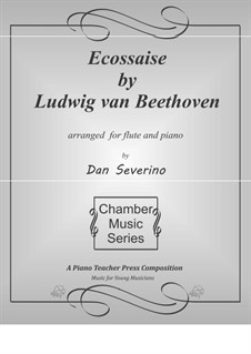 Écossaise in G Major, WoO 23: para flauta e piano by Ludwig van Beethoven