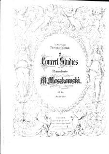 Three Concert Etude, Op.24: set completo by Moritz Moszkowski