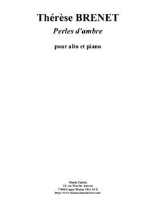 Perles d'Ambres: para viola e piano by Thérèse Brenet