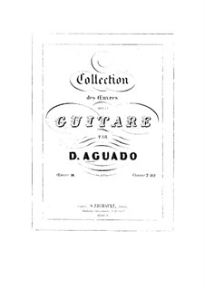 Exercises for Guitar, Op.10: set completo by Dionisio Aguado