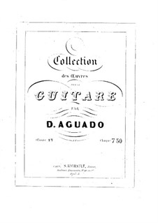 Morceaux agréables non difficiles, Op.13: set completo by Dionisio Aguado
