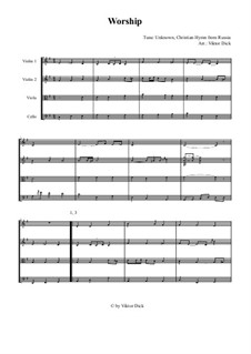 Worship for String Quartet: Worship for String Quartet by Unknown (works before 1850)