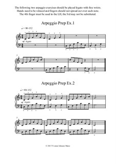 2 Arpeggio Prep Exercises: 2 Arpeggio Prep Exercises by Yvonne Johnson
