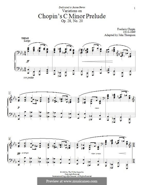 No.20 in C Minor: variações by Frédéric Chopin