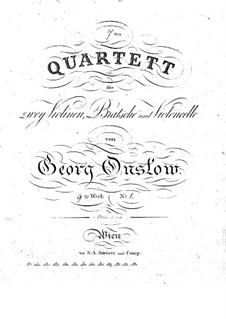 Three String Quartets No.7-9, Op.9: set completo by Georges Onslow