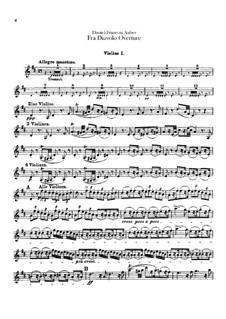 Overture: violino parte I by Daniel Auber