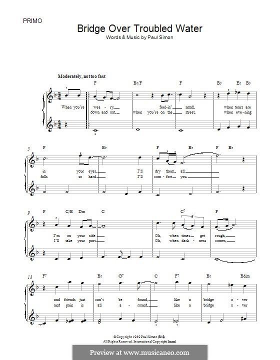 Bridge Over Troubled Water, for Piano: para um único musico (Editado por H. Bulow) by Paul Simon