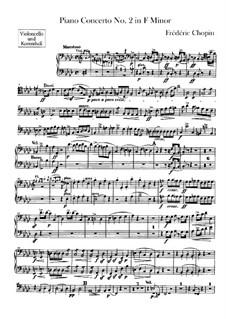 Partitura completa: parte violoncelo e contrabaixo by Frédéric Chopin
