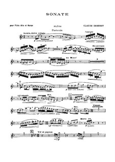 Sonata for Flute, Viola and Harp, L.137: Flute and viola parts by Claude Debussy