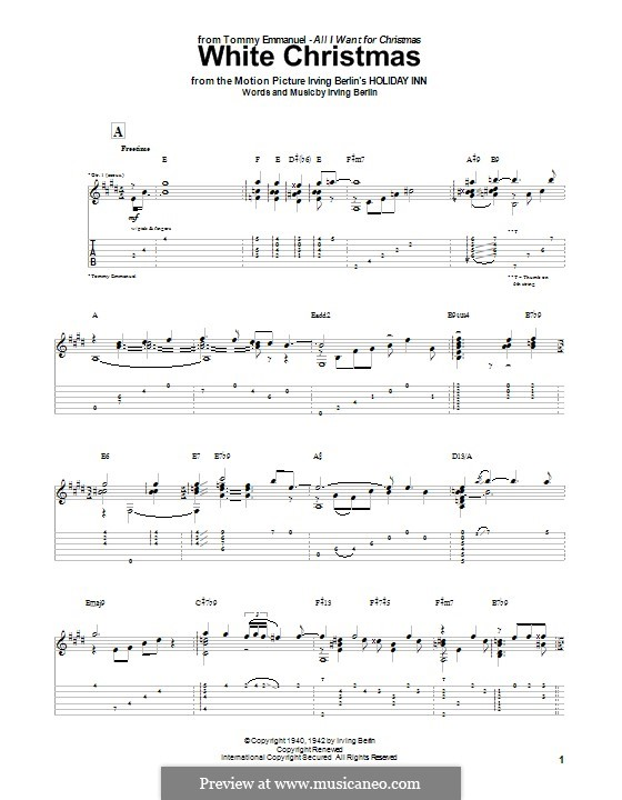 White Christmas. Instrumental version: Para guitarra com guia by Irving Berlin
