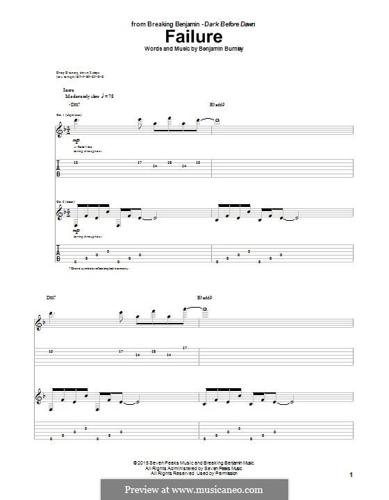 Failure: Para guitarra com guia by Benjamin Burnley