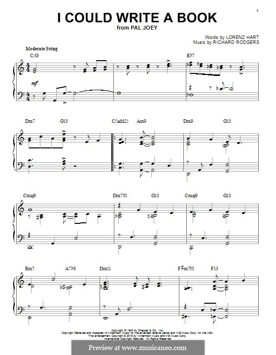 I Could Write a Book: Para Piano by Richard Rodgers