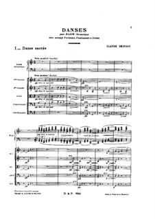 Two Dances for Harp and String Quintet, L.103: set completo by Claude Debussy