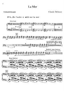 La mer (The Sea), L.109: parte violoncelo by Claude Debussy