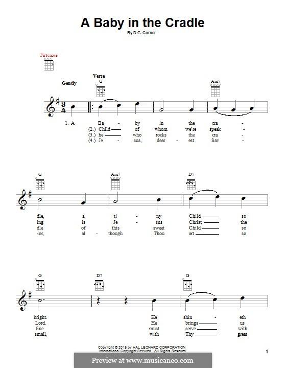 A Baby in the Cradle: para ukulele by David Gregor Corner
