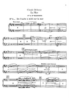 La mer (The Sea), L.109: parte fagotes by Claude Debussy