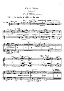 La mer (The Sea), L.109: parte trompa by Claude Debussy