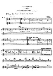 La mer (The Sea), L.109: parte Trompete e cornetas by Claude Debussy