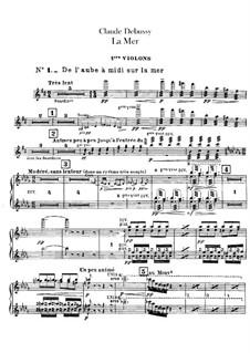 La mer (The Sea), L.109: violinos parte I by Claude Debussy