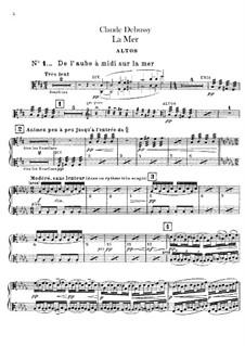 La mer (The Sea), L.109: parte violas by Claude Debussy