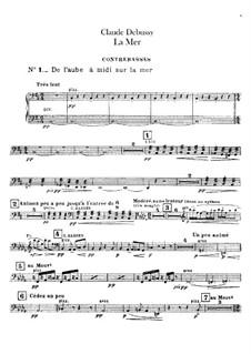 La mer (The Sea), L.109: parte duplo baixo by Claude Debussy
