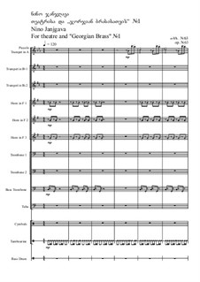 For theatre and 'Georgian Brass' No.1, Op.63: For theatre and 'Georgian Brass' No.1 by Nino Janjgava