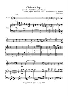 Christmas Joy!: Score for two performers (in C) by Georg Friedrich Händel, Ludwig van Beethoven, folklore