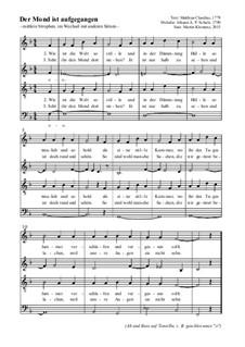 Der Mond ist aufgegangen: para coro misto by Johann Abraham Schulz