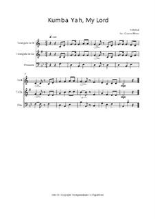 Kumbaya (Kum Ba Yah): Para trio de bronze, Op.03018 by folklore