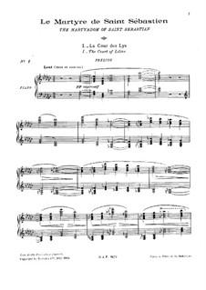 Le Martyre de Saint Sébastien, L.124: Partitura piano-vocal by Claude Debussy