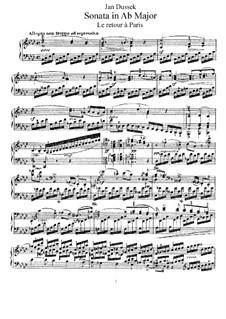 Sonata for Piano in A Flat Major, Op.70: Sonata for Piano n A Flat Major by Jan Ladislav Dussek