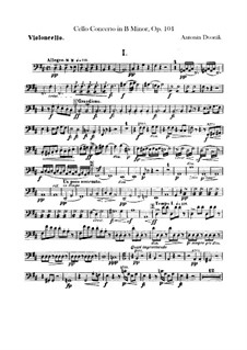 Concerto for Cello and Orchestra in B Minor, B.191 Op.104: parte violoncelo by Antonín Dvořák