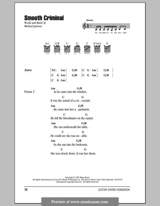 Smooth Criminal: Letras e Acordes by Michael Jackson