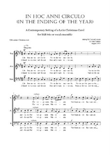 In Hoc Anni Circulo: Christmas motet: SAB by Joan Yakkey