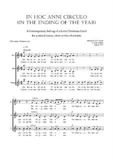 In Hoc Anni Circulo: Christmas motet: SAT by Joan Yakkey