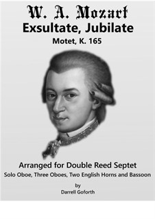 Exsultate, jubilate, K.165: For double reed septet by Wolfgang Amadeus Mozart