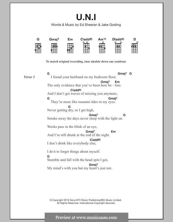 U.N.I: para ukulele by Ed Sheeran, Jake Gosling