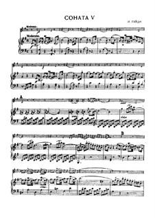 Sonata No.5 in G Major: partituras completas, parte solo by Joseph Haydn