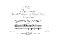 Piano Quartet No.2 in G Major: parte piano by Franz Anton Hoffmeister
