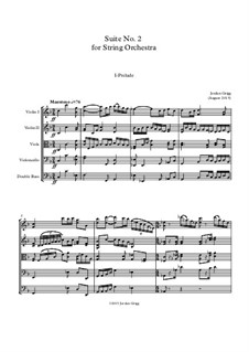 Suite No.2 for String Orchestra: Suite No.2 for String Orchestra by Jordan Grigg