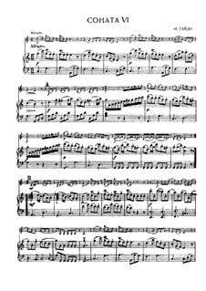 Sonata No.6 in C Major: partituras completas, parte solo by Joseph Haydn