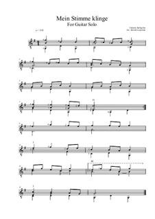 Mein Stimme klinge: For guitar solo by Valentin Rathgeber