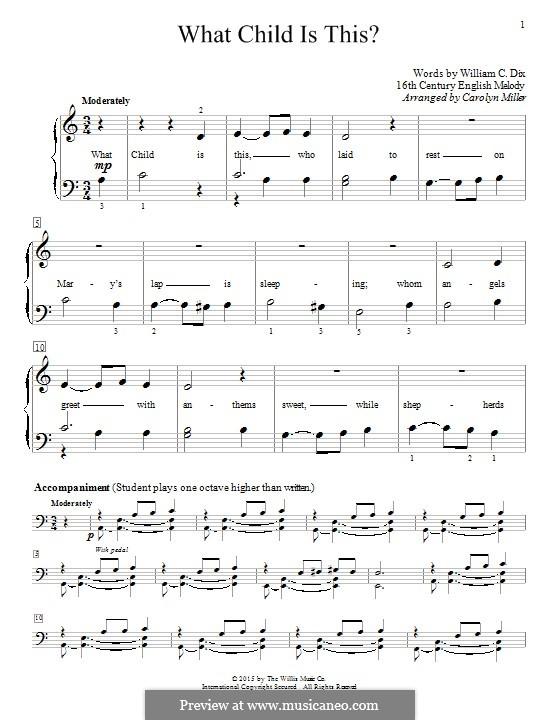 What Child Is This?, for Piano: para um único musico (Editado por H. Bulow) by folklore