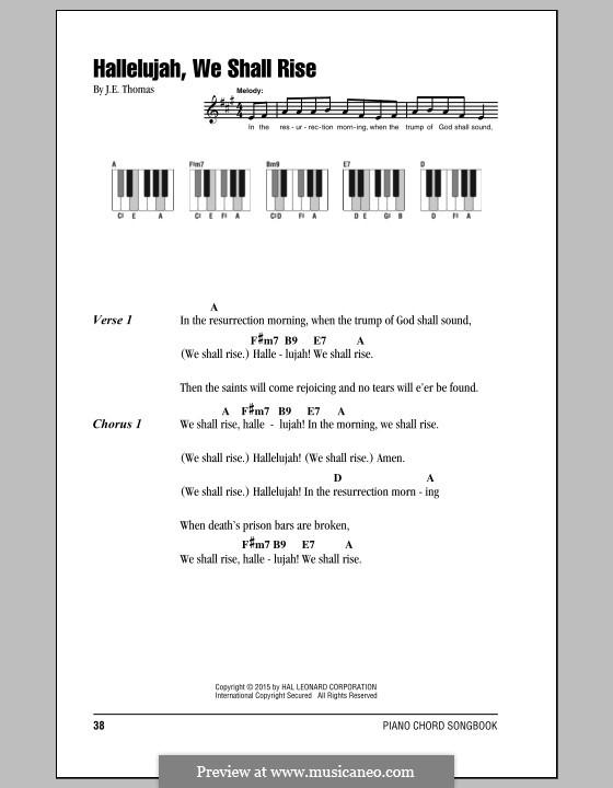 Hallelujah, We Shall Rise: Letras e Acordes by J. E. Thomas