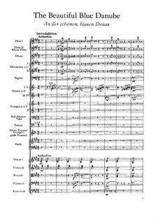 On the Beautiful Blue Danube, Op.314: Partitura completa by Johann Strauss (Sohn)