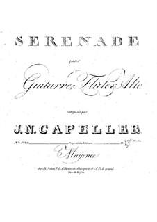 Serenade for Flute, Viola and Guitar: Serenata para flauta, viola y guitarra by Johann Nepomuk Kapeller